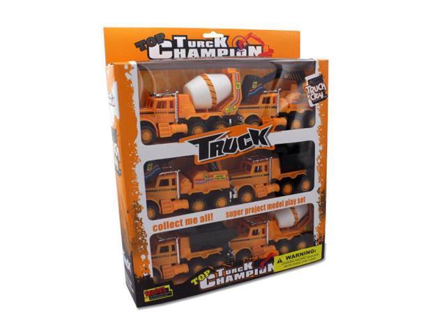 Bulk Buys Friction Powered Construction Trucks Vehicle Toy Set 1 Pack