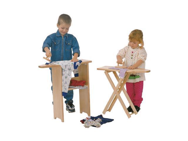 Steffywood Kids Children Pretend Play Maple Fold Up Toy Ironing Board