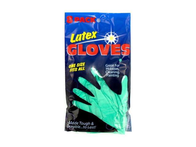 Bulk Buys Indoor Outdoor Hospital Drive Safety Latex Green Gloves 12 Pack