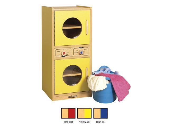 ECR4Kids Indoor Home Kids Colorful Essentials Play Red Kitchen Washer Dryer