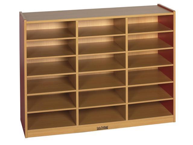ECR4Kids Kids Toys Books Colorful Essentials Multi-Purpose Red Cabinet 18 Comp