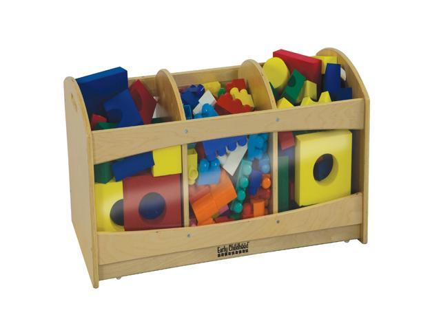 ECR4Kids Playingroom Kids Children Toys Puppets See Through Birch Storage Bin