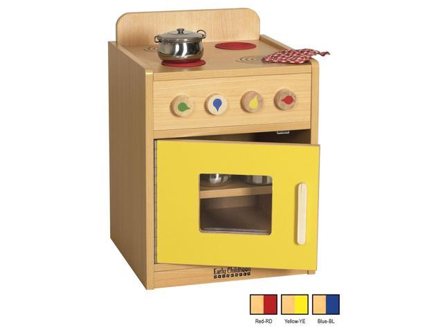ECR4Kids Indoor Home Preschool Kids Colorful Essentials Play Red Kitchen Stove