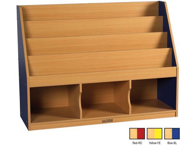 ECR4Kids Indoor Kids Colorful Essentials Red Book Display Stand 3 Comp