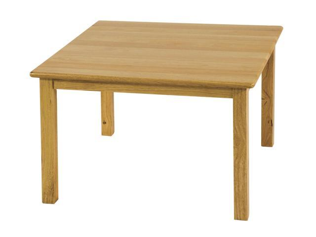 ECR4Kids Kids Learning Art Activity 30 Square Hardwood Table with 18  Legs