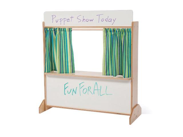 Whitney Brother Kids Pretend Play Floor Standing Imaginative Show Puppet Theaters