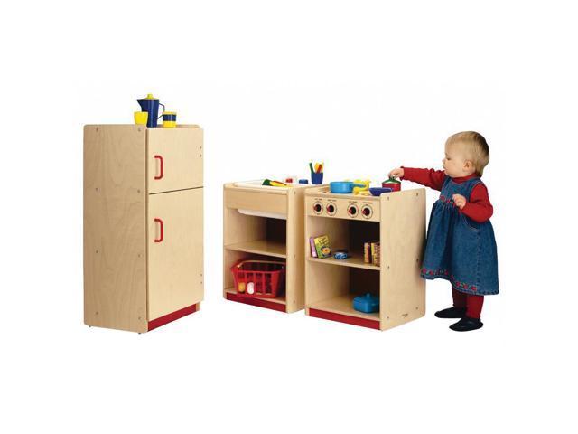 Whitney Brothers Birch Laminate Toddler Pretend Play Kitchen Dishwasher Toy Sink