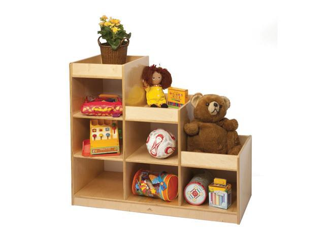 Whitney Brothers Toddler  Kids Children  Play Room Single Wooden Multiple Shelves Cubby Pyramid Storage Unit