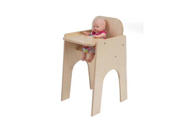 Whitney Brothers Birch Laminate Kids Children Pretend Play Feeding Baby Doll High Chair
