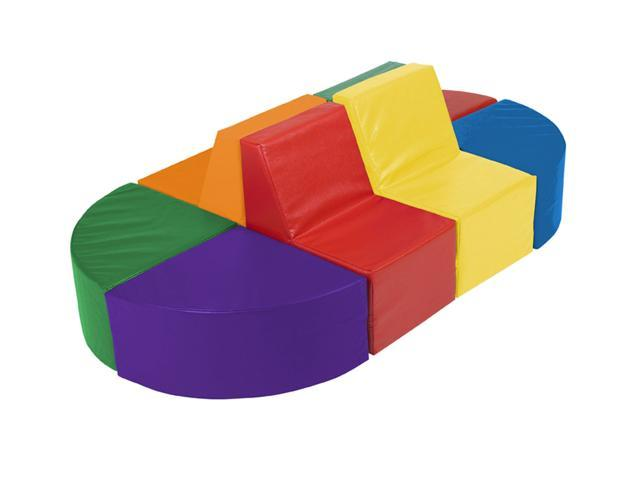 Early Childhood Resource ELR-0838 SoftZone 8 Piece Sectional Play Set