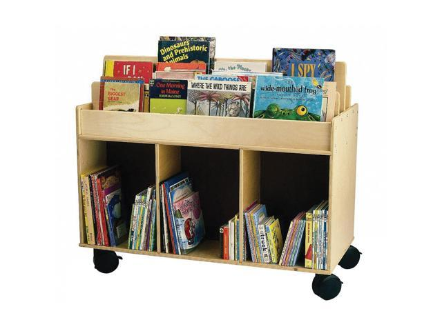 Whitney Brothers Kids Home School Classroom Mobile Book Storage Island