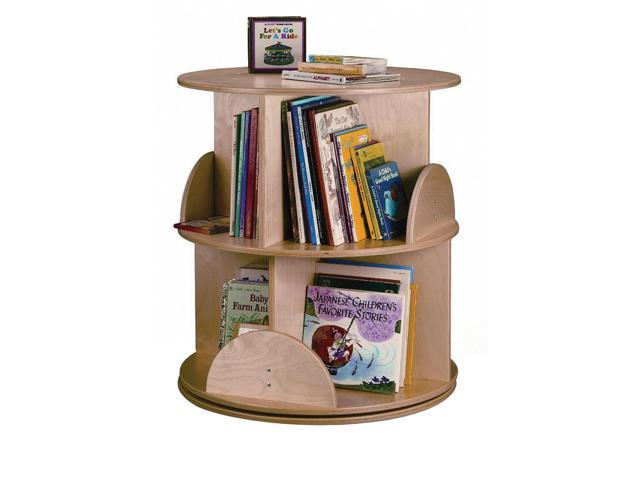 Whitney Brothers Home Indoor School Library Study Room 2-Level Carousel Book Stand