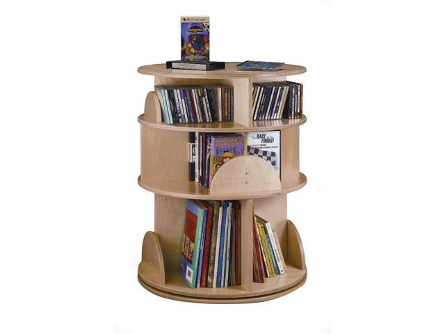 Whitney Brothers Home Indoor School Library Study Room 3-Level Carousel Media Center