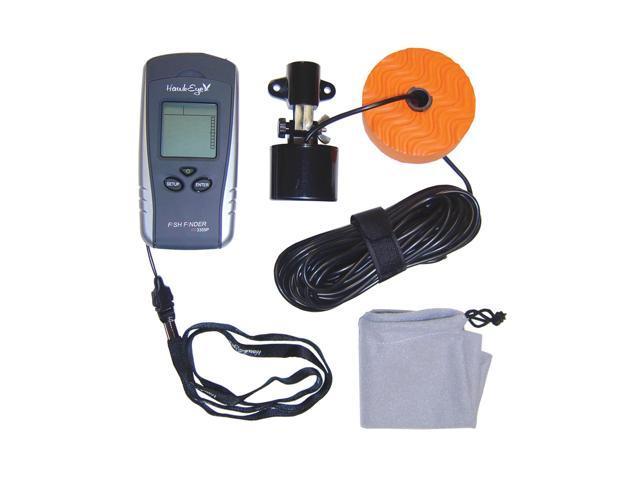 Hawkeye portable fish depth finder with weedid and reg for Hawkeye portable fish finder