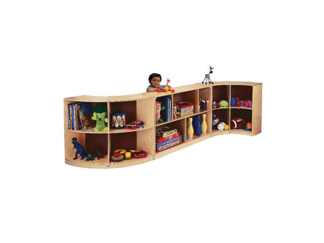 Whitney Brothers Home Kids Living Room Curved Storage Organizer:Back Curve-In