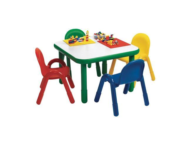 BaseLine Preschool Square Table Chair Set Natural