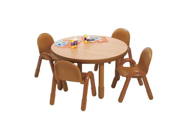 BaseLine Preschool Round Table & Chair Set Natural
