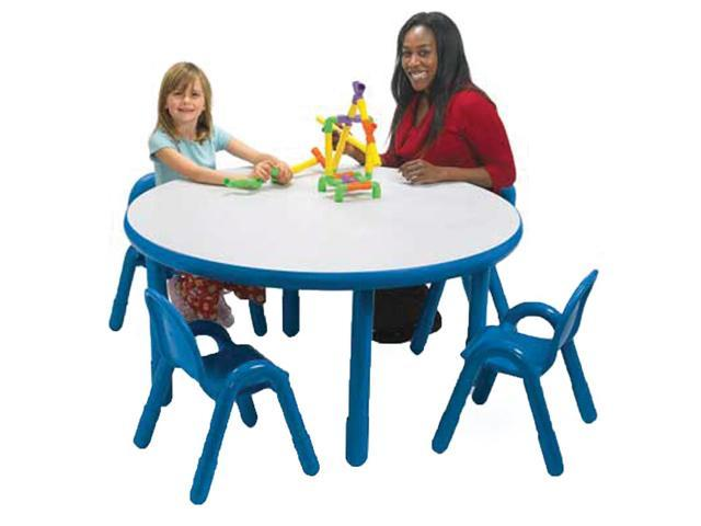 BaseLine Preschool Round Table & Chair Set Royal Blue