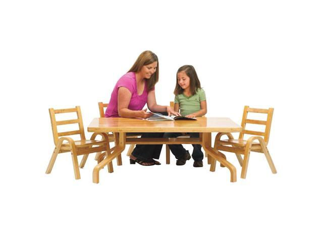 NaturalWood Collection 30x30x12 Square Toodler Table & Chair Set