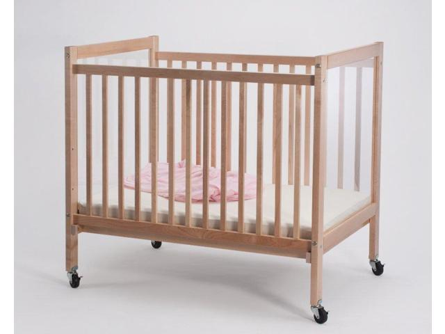 Whitney Brothers Portable Infant Clear View Evacuation Crib With Lockable Ball Bearing Legs