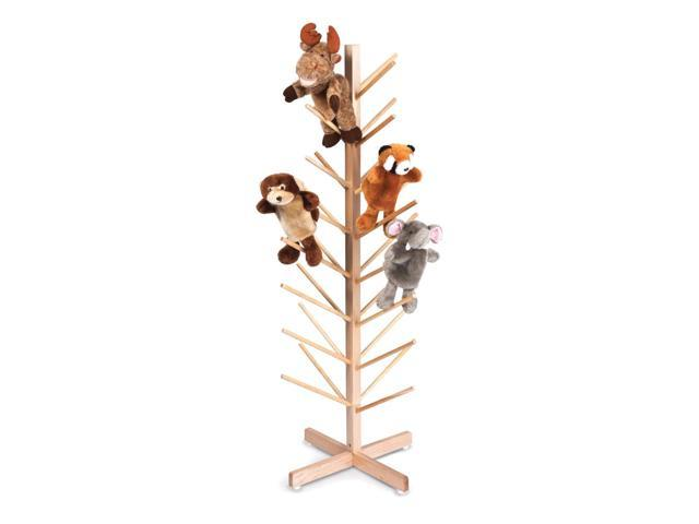 Whitney Brothers Kids Fun Play Freestanding Puppet Tree Organizer With 32 Branches