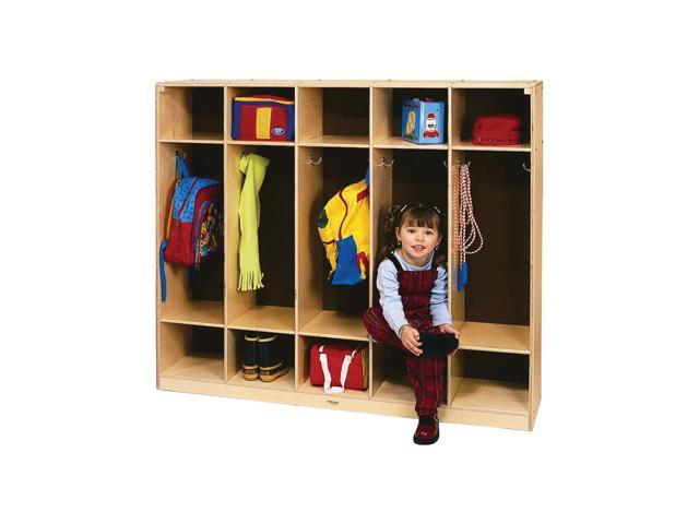 Whitney Brothers Classroom Kids Children Five Section Bag Shoe Storage Cubby Coat Locker