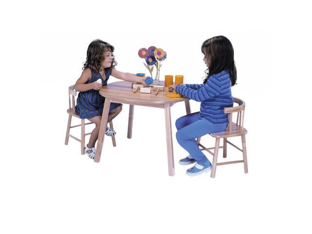 Whitney Brothers Kids In And Outdoor Round Children's Table With Sturdy Birch Laminate Top