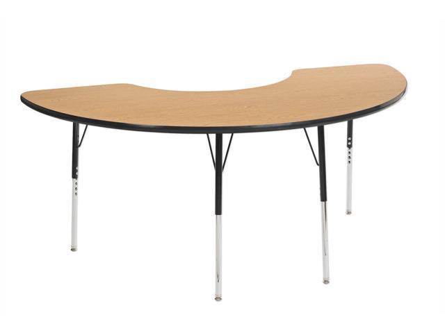 ECR4kids Playschool Classroom Children Adjustable Activity Table Half Moon 36