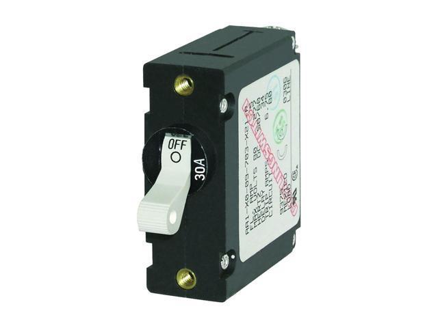Blue Sea 7222 AC / DC Single Pole Magnetic World Circuit Breaker - 30 Amp