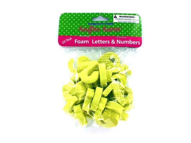 Krafters Korner Craft Supplies Foam Numbers And Letters 26 Pieces 12 Pack