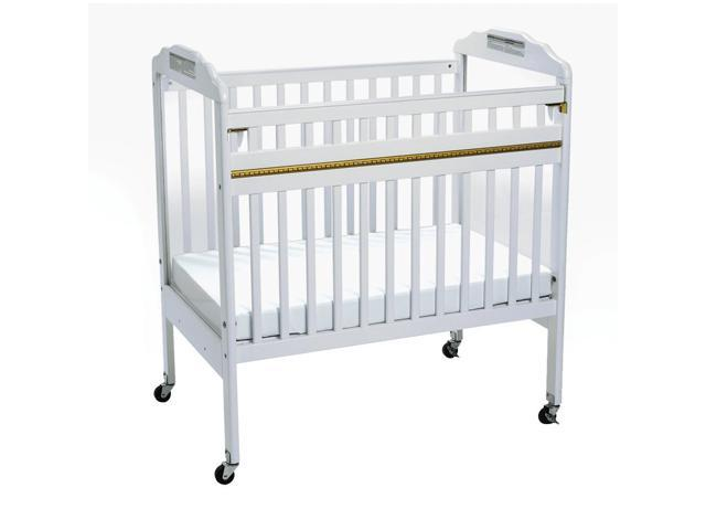 Angeles White Safe-T-Side Clear  View Crib
