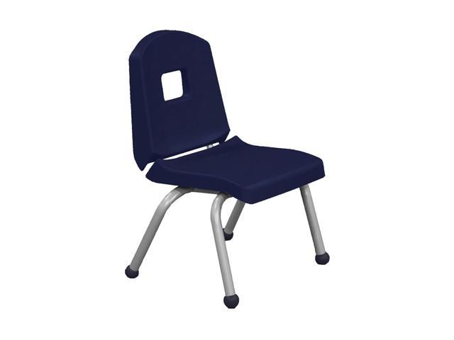 Mahar Split Bucket Chair with Matching Ball Glide with Brushed Metal Frame Navy