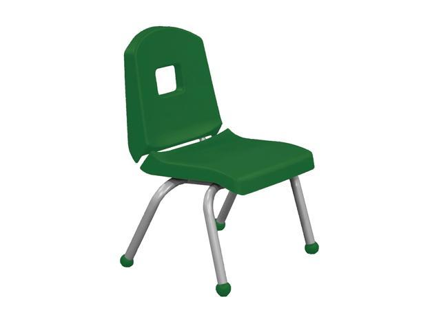 Mahar Split Bucket Chair with Matching Ball Glide with Brushed Metal Frame Forest Green