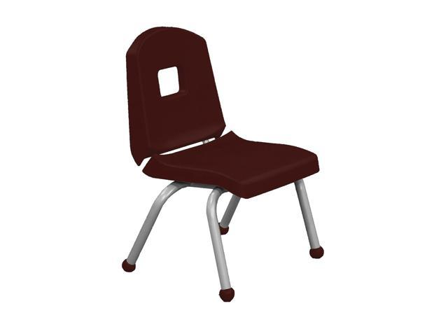 Mahar Kids Room Split Bucket Chair with Matching Ball Glide with Dustin Green Frame Burgundy