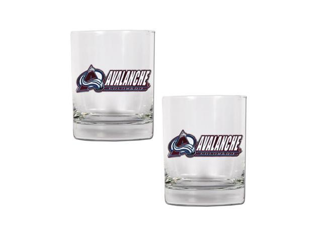 NHL Sports Colorado Avalanche 14oz 2pc Rocks Glass Set Clear