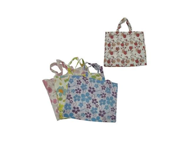 Bulk Buys Multipurpose Large Flower Tote Bag, Assorted Designs Pack Of 24