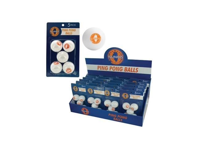 Bulk Buys Indoor Games Table Tennis Sports Illinois Ping Pong Balls Countertop Display Case Of 24