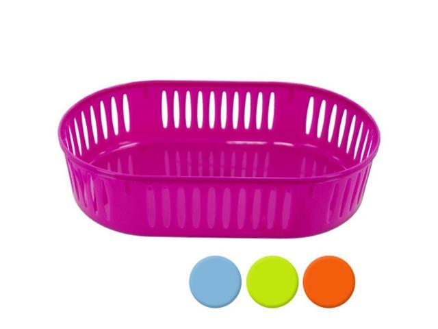 Bulk Buys Home Indoor Oval Shaped Multipurpose Storage Basket Assorted Colors Pack of 12