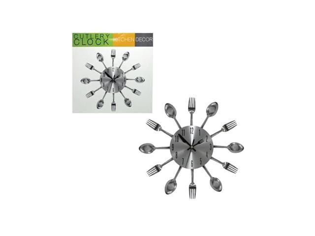 Bulk buys Home Kitchen Accent Decor Utensil Cutlery Theme Wall Timer Clock Gift Pack of 1