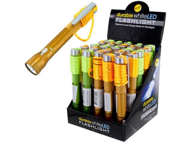 Bulk Buys Durable White LED Flashlight Pen Countertop Display Case of 25