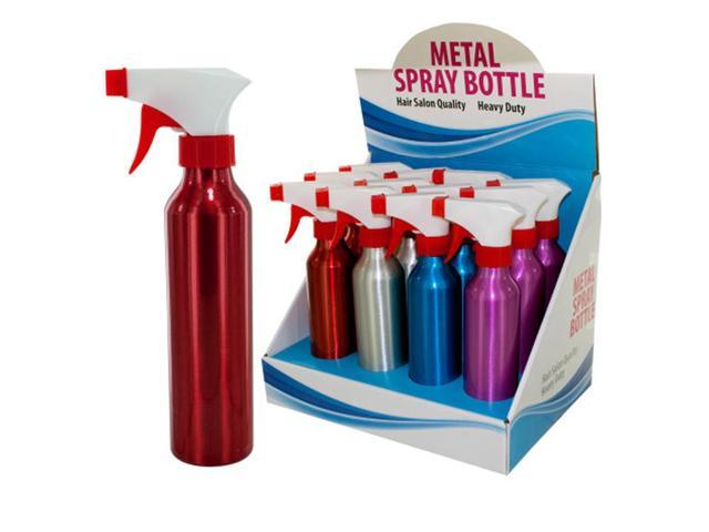 Bulk Buys Travel Portable Easy Carry Metal Spray Bottle Counter Top Display Case of 12