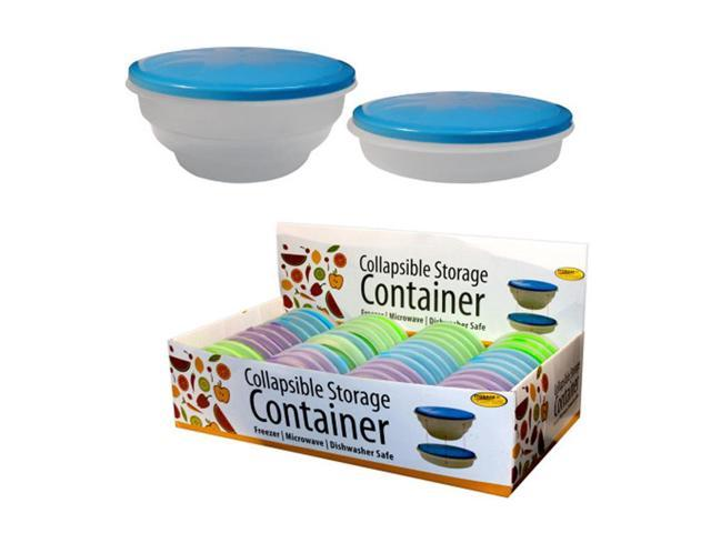 Bulk Buys Plastic Collapsible Storage Container Malls Store Display Case Of 48
