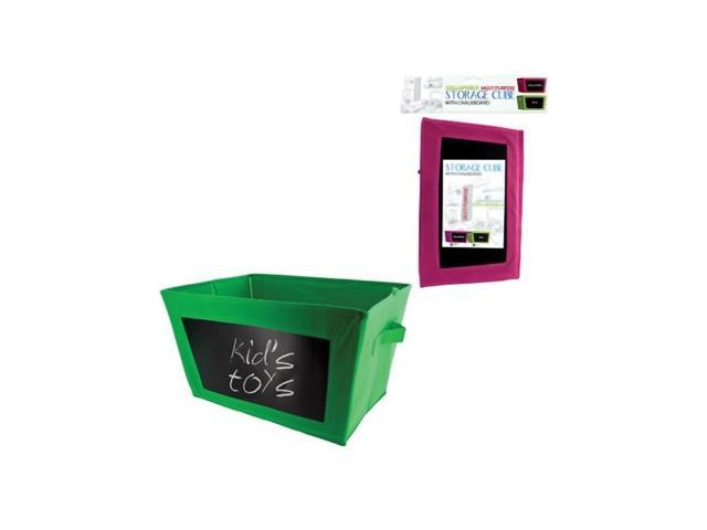 Bulk Buys Storage Cube with Chalkboard In Poly Bag With Hanging Card Pack Of 8
