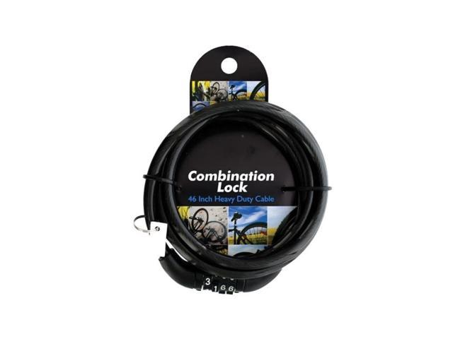 Bulk Buys Home Computer Laptop Combination Security Cable Lock Black Pack Of 4