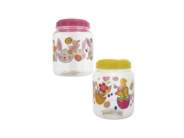 Bulk Buys Easter Holiday Party Treat Plastic Candy Chocolate Jar Pack Of 12