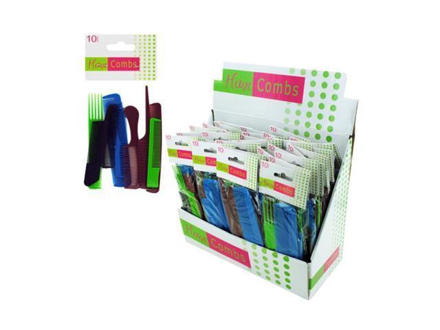 Bulk Buys Home Salon Plastic Hair Comb Value Pack Case of 36