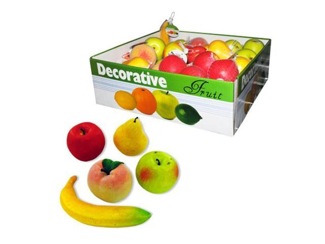 Bulk Buys Banquets Party Decorative Fruit assortment Styrofoam Display Case of 60