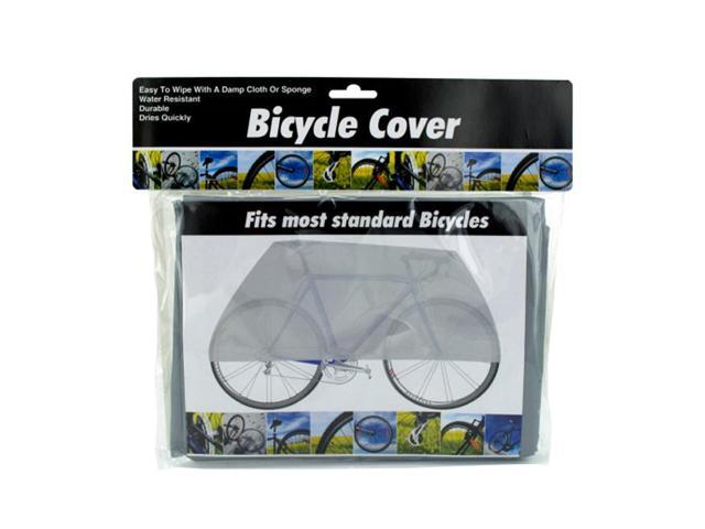 Bulk Buys Indoor Outdoor Water Dirt Resistant Vinyl bicycle Cover Gray Pack of 8