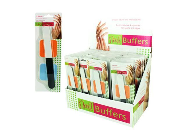 Bulk Buys Home Nail Care Buffers Manicure Tool Display Case Of 72