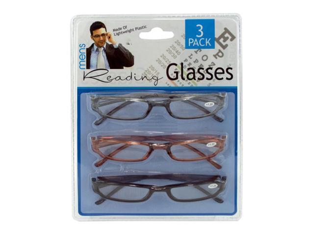 Bulk Buys Home Indoor Mens Plastic Reading Glasses Pack of 4
